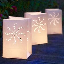 Linterna Luminosa/Cumpleaños Boda Fiesta Decoración Luz Vela sostenedor de papel