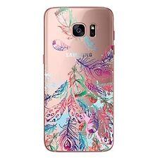 Coque transparente gel souple solide fantaisie pour Samsung Galaxy S7