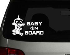 "Baby on Board #1 Incredibles Cute Baby Vinyl Die Cut Car Decal Sticker 7""(w)"