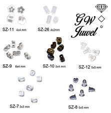 Ohrstopper für Ohrringe Ohrstecker Verschlüsse Silber o Kunststoff SZ-6