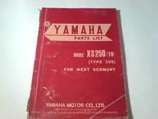 Ersatzteilliste / Spare Parts List Yamaha XS 250 / XS250 '78 Stand April 1978