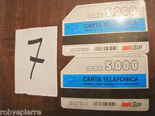 Schede Telefoniche SIP 31.12.95 COMPAGNA DI TUTTI I GIORNI lire 5000 CONSECUTIVE