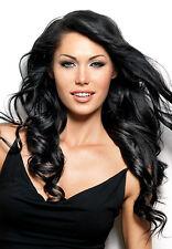 Black diamond hair extensions wigs ebay 14 18 black diamond machine weft rio wave human remi hair extension pmusecretfo Choice Image