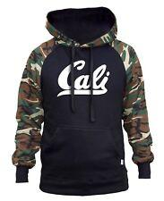 Men's White Cali Camo/Black Raglan Hoodie California Republic CA Diamond Dope