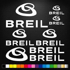 BREIL 13 Stickers Autocollants Adhésifs Auto Moto Voiture Sponsor Marques