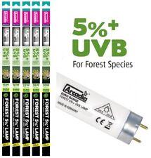 ARCADIA euro gamma RETTILI Luce T8 D3 Foresta 5% lampada UVB 15W 18W 25W 30W 38W