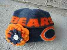 2a29f04df25 Chicago Bears NFL Fleece Flower Hat - Newborn Baby Girls
