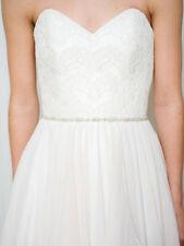 Thin Crystal Bridal Sash Belt ,Skinny Rhinestone Sash Belt,Bridal Sash Belt