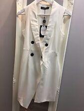 Vestido de esmoquin Naanaa sin mangas con falda asimétrica (AS-40/26)