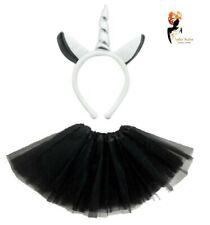 GREY UNICORN TUTU COSTUME Kids Teens Halloween Fancy Skirt Dress Dash Pony