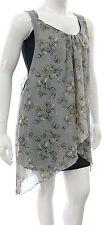 Brand new sexy tunic dress chiffon layered top size 16 to 26 original *LICK*