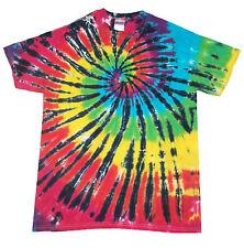T shirt tie dye toutes tailles Multi couleur Arc-en-ciel spirale teints au royaume-uni