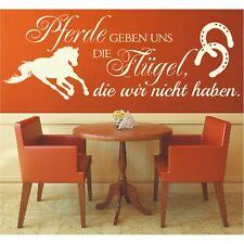 Wandtattoo Spruch  Pferde geben uns Flügel Sticker Wandaufkleber Wandsticker 2