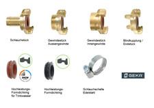 GEKA® System Schlauch Armaturen aus Messing mit Bajonettverschluss