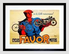 VINTAGE Pubblicità TRASPORTO MOTO favore MOTOS Framed Art PRINT MOUNT b12x11575