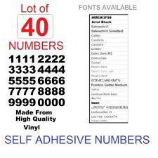 40x SELF ADHESIVE MAILBOX,TOOLBOX,DOOR Vinyl Numbers, Decals, Stickers,ARIAL...