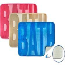 Spa Memory Foam Bath Mat - Blue, Natural, Pink, Silver Grey