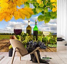 3D Grape Fruit And Wine Food 44 Wall Paper Wall Print Decal Wall AJ WALLPAPER CA