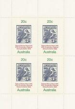 Australia National Stamp Week 50th Anniversary Mini Sheet of 4 Stamps
