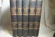 ANTIQUE BOOKS 5 VOL SET FRENCH REVOLUTION 1838 LEATHER