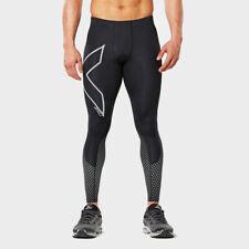 2XU Uomo Reflect Compressione Collant Leggings Pantaloni Sport Nero