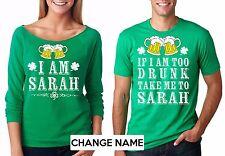 Custom Couple St Patrick's T-shirts Saint Paddy's Patty's T-shirts Green Party
