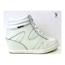 RABEN Ladies Wedge White Sneaker_RAB 15235