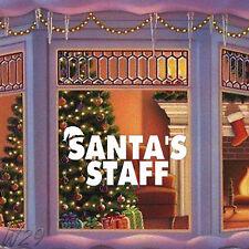 Merry Christmas Funny Santa's Staff Large Wall Art Decal Vinyl Sticker