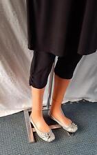 MAGNA 3/4 Leggings Capri HOSE Schlupfhose m. 4 Knöpfe*LAGENLOOK*Gr.44>58*schwarz