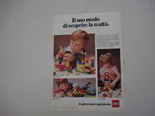 advertising Pubblicità 1981 LEGO