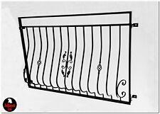 Juliet balcon métal balustrade coated fer forgé design règle Jullimett
