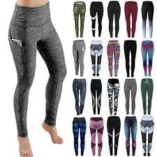 Women's High Waist Yoga Pants PUSH-UP Leggings Fitness Sport Workout Athletic UK