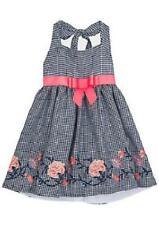 RARE EDITIONS® Girls' 8, 10, 14 Floral Trim Gingham Dress NWT $68