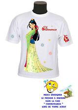 tee shirt fille princesse mulan personnalisable prénom réf 137