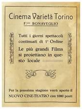 CINEMA VARIETA' TORINO BONAVEGLIO SPETTACOLI FILM IVREA 1928