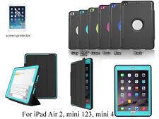 Screen Protector/Luxury Tri-fold Smart Case for iPad mini 1 2 3 4 iPad  Air 2