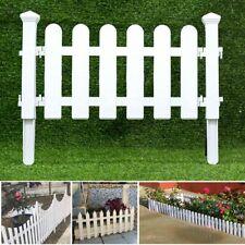 White PVC Plastic Fence European Style For Garden Driveway Gates Christmas Tree