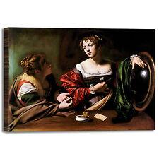 Caravaggio Marta e Maria Maddalena quadro stampa tela dipinto telaio arredo casa