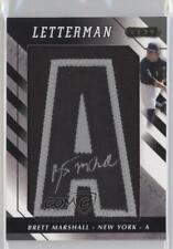 2008 Razor Letterman 5 Black/Sliver #BEM-A1 Brett Marshall New York Yankees Auto