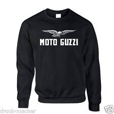 Sweat Shirt Moto Guzzi Weiß - Gr. S - XXXL - Siebdruck - Le mans Cali V7