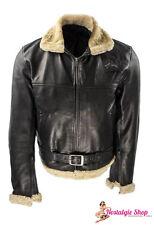 30er 40er Flieger Lederjacke Rockabilly Jacke Anilin Leder Lammfell Flightjacket
