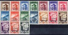 1943 San Marino serie governo provvisorio 17 v. ** MNH