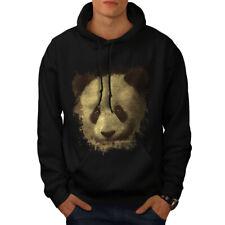 Wellcoda Panda Bear Cute Animal Mens Hoodie, Bamboo Casual Hooded Sweatshirt