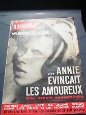 Détective 1968 1146 SALON DE PROVENCE CHINON ORGéRUS FROUARD NANTERRE