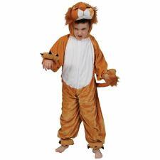 Costume Lion Enfant Fantaisie Unisexe Animaux Zoo Jungle 3-13 Ans