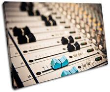 Music Mixer Studio DJ Club SINGLE CANVAS WALL ART Picture Print VA