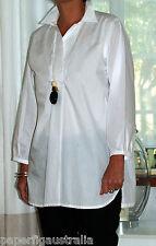 PLUS SIZE+NWT+White Cotton Shirt+blouse 3 Sizes to fit sizes 12 - 24