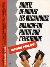 Publicité ancienne rasoir Philips 1982