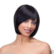 Kalla | 100% Pelo Humano | Black Brown Borgoña | Fringe | es una peluca