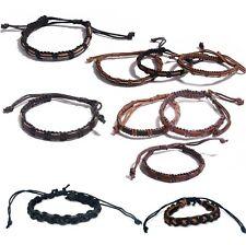 Bracelet Coton et cuir reglable HOMME ou ADO NEUF couleur Au CHOIX